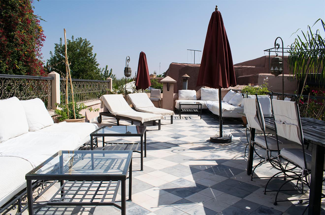 Boutique hotel Marrakech roof terrace