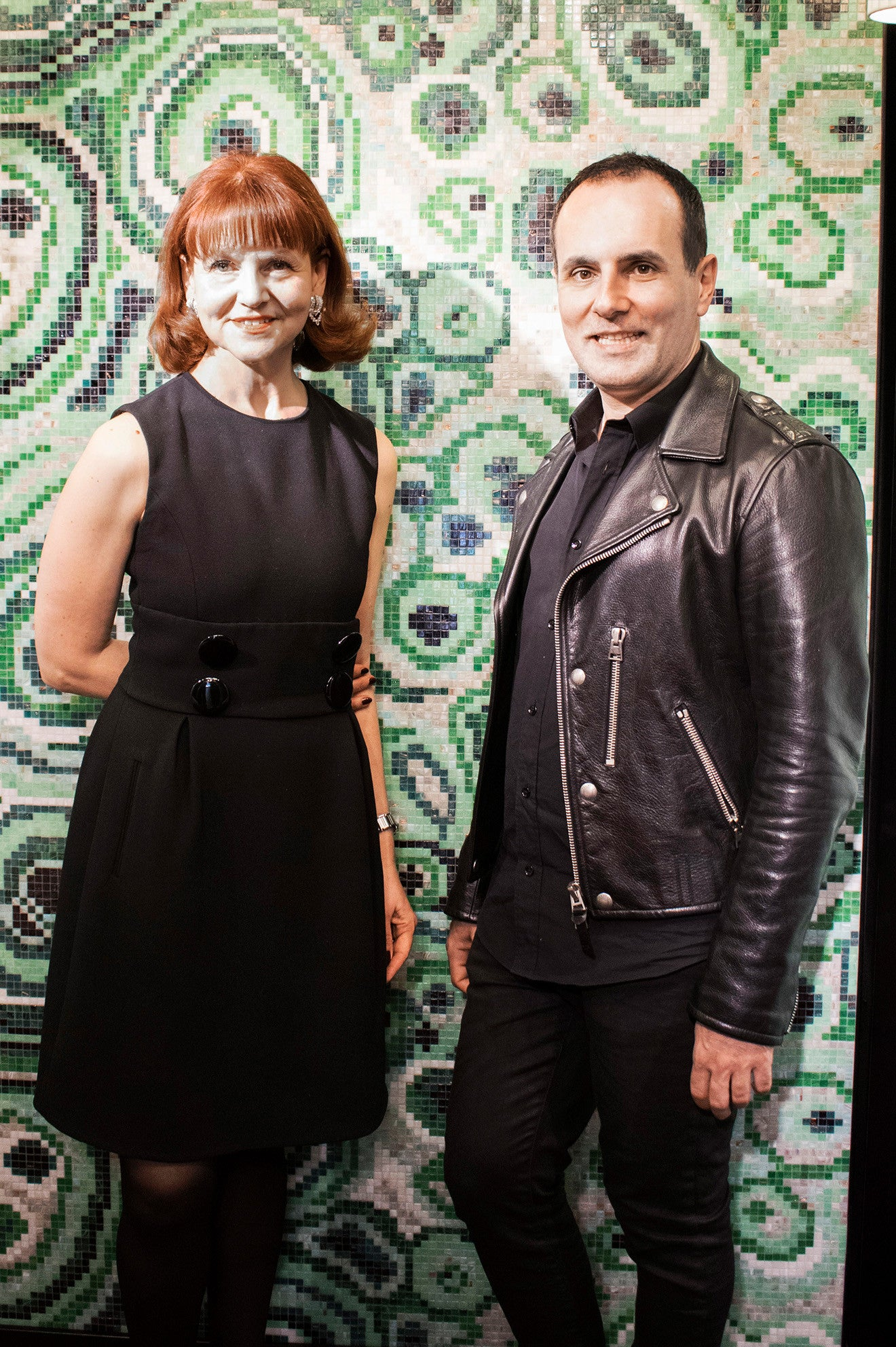 Rossella Bisazza and Greg Natale at the Bisazza showroom Milan