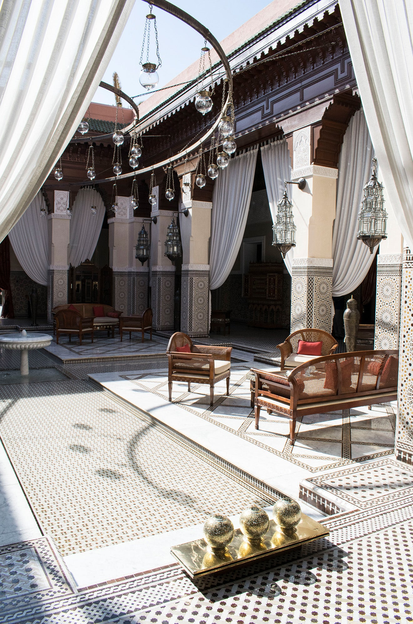Royal Mansour Central Courtyard Marrakech Morocco