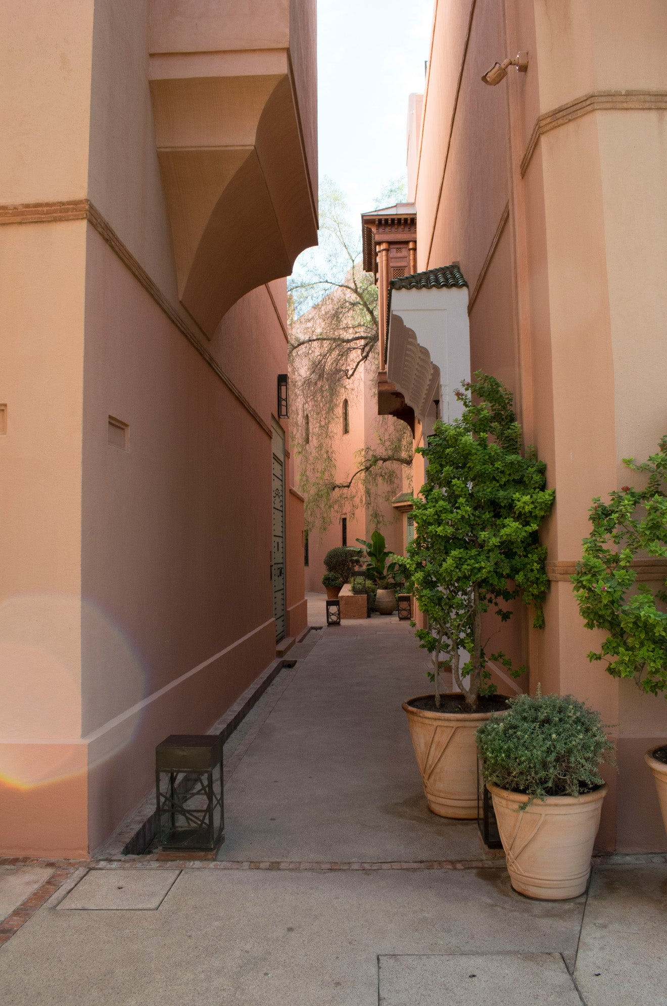 Winding streets of Riad hotels at the Royal Mansour, Marrakech