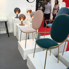 Pastel chairs from SE London on display at 100% Design