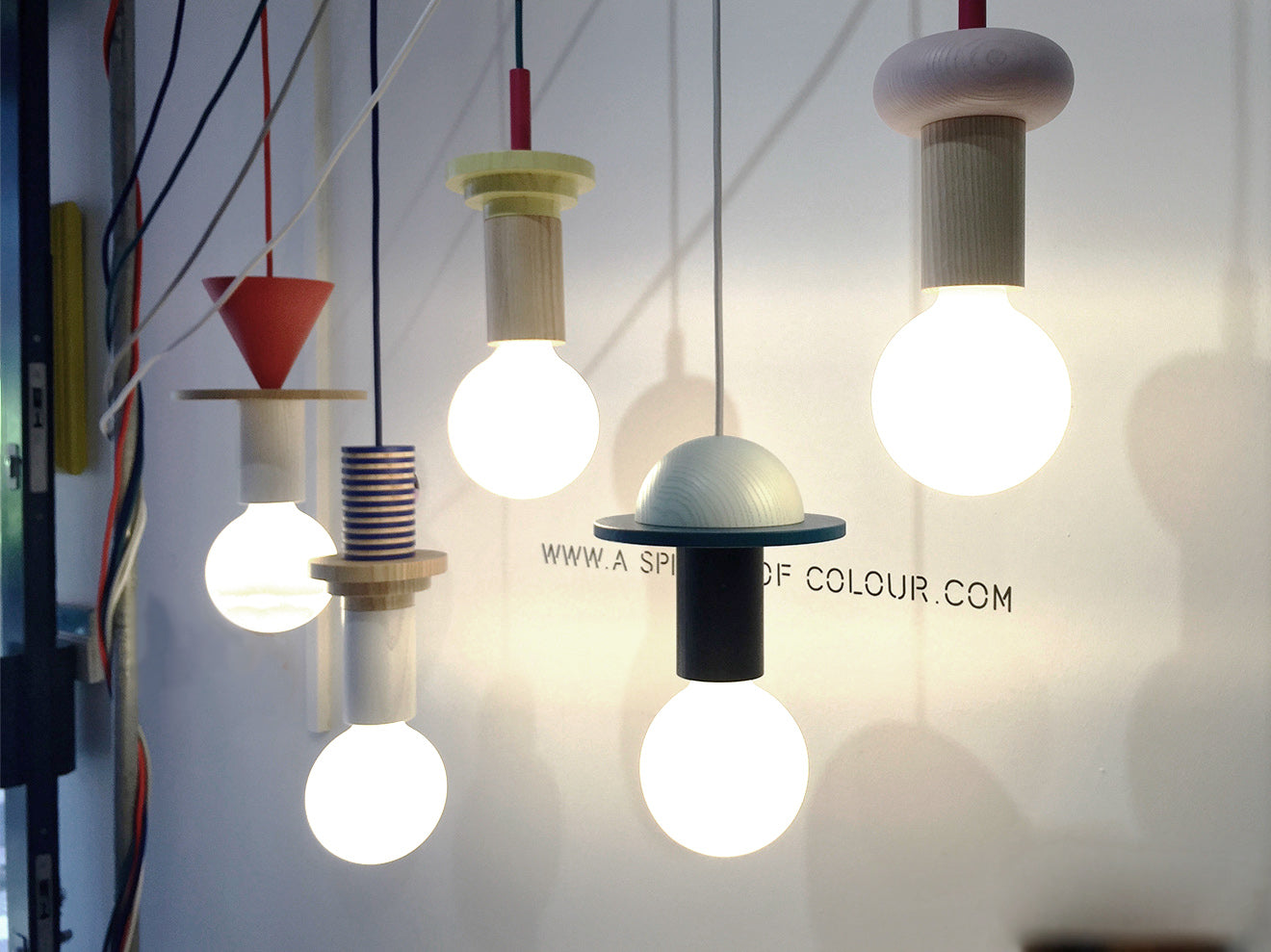 Modern lighting designs from a Splash of Colour London
