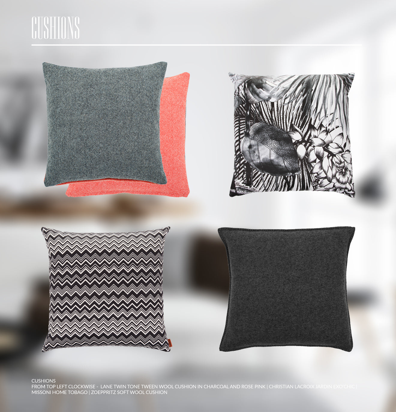 Luxury cushion design inspiration for a Scandinavian interior