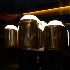 Sea Containers House original brass wall lighting