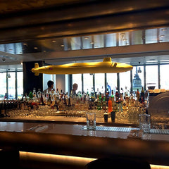 Sea Containers Restaurant yellow submarine above the bar