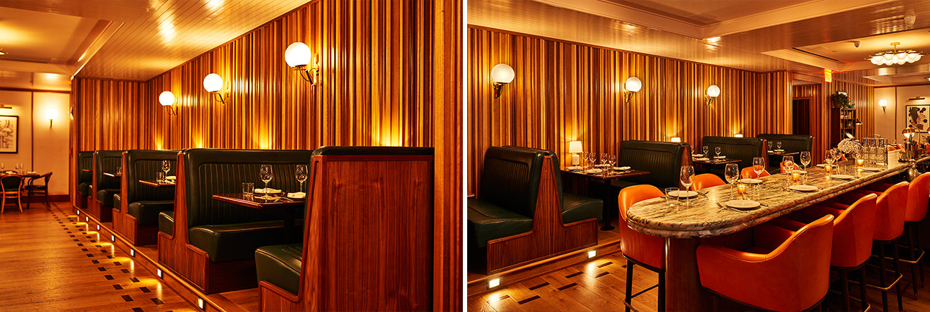 Sessanta Restaurant Booth Seating Sixty Soho New York