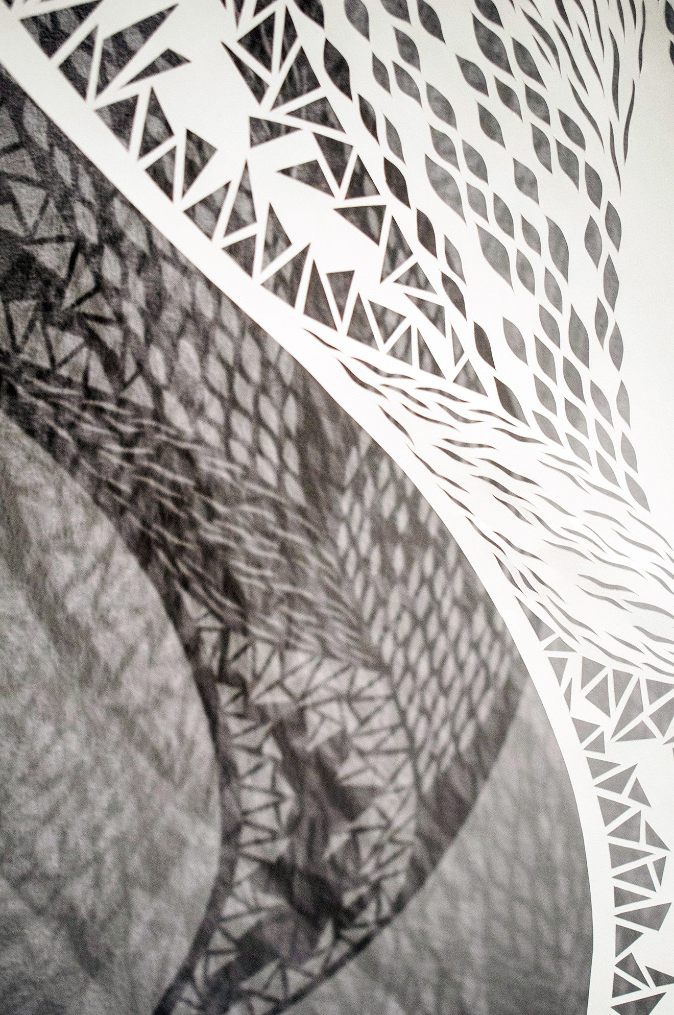 Hand cut geometric paper artwork by Shannon Bartlett-Smith at LINLEY