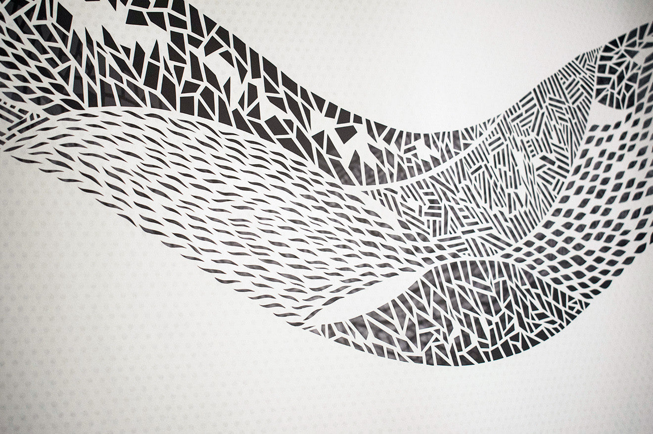 Hand cut geometric shaped artwork from Shannon Bartlett-Smith