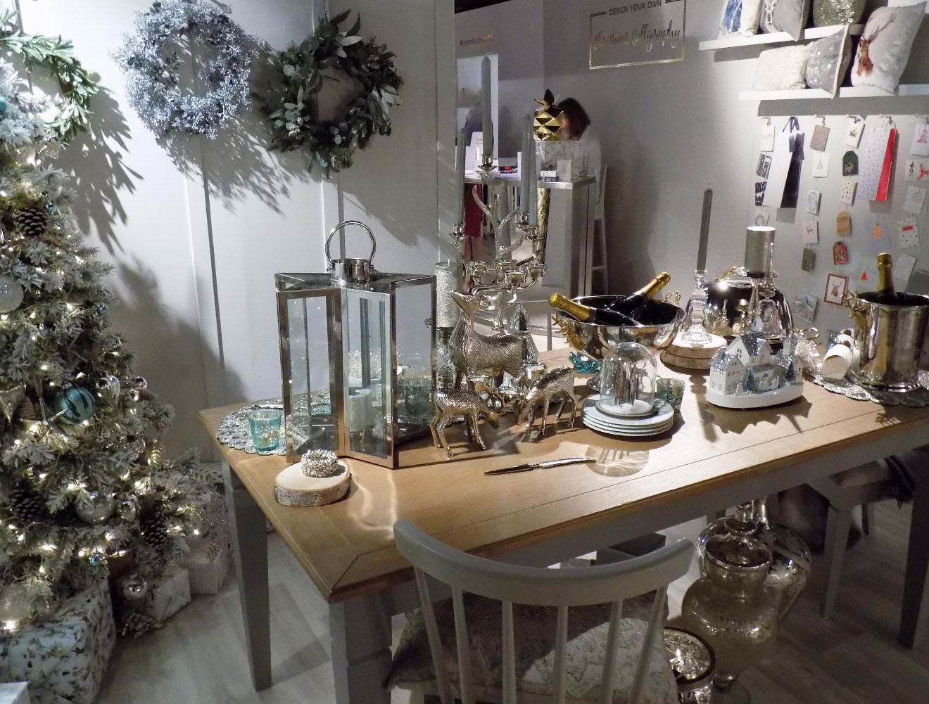 Silver Christmas decorations from Marks and Spencer Home 2016