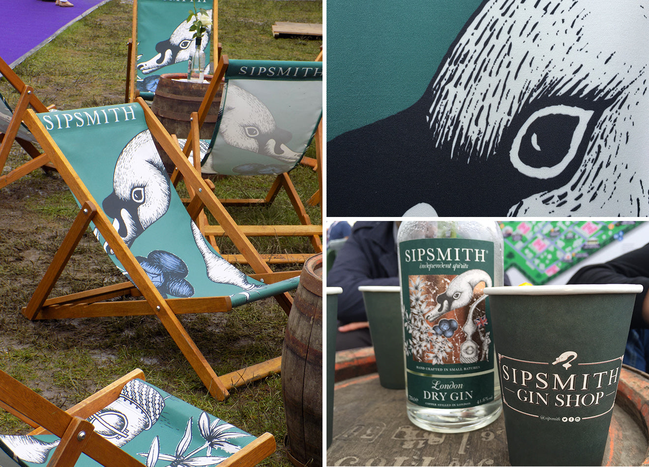 Sipsmith Gin London deckchairs at the Taste of London festival