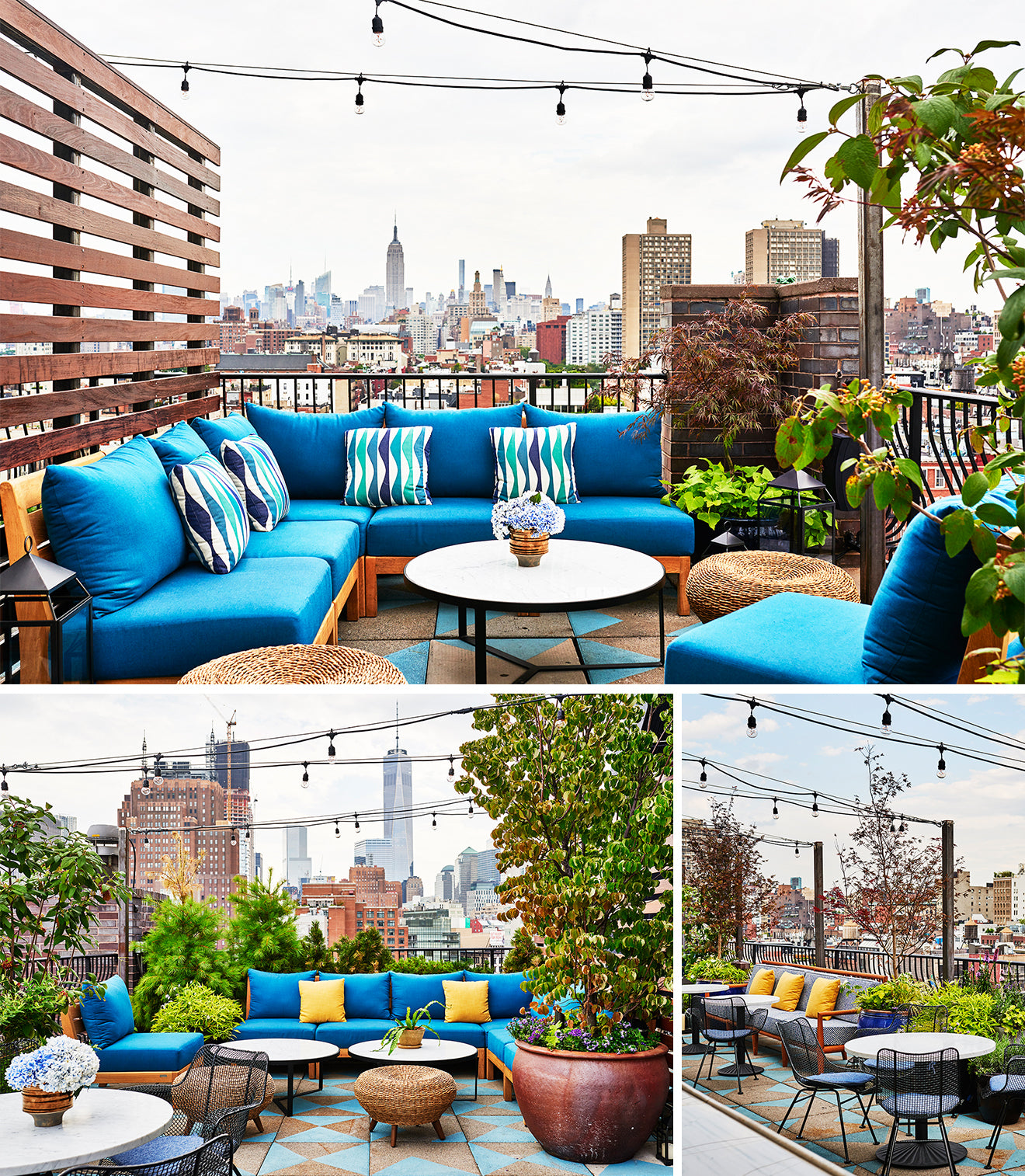 A60 Above Sixty Soho rooftop bar overlooking Manhattan