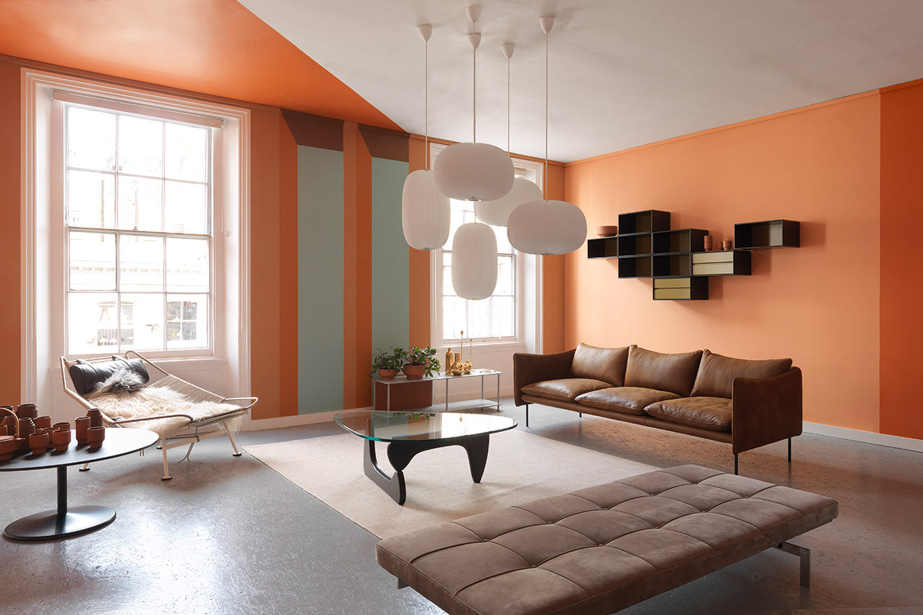 Skandium Eco Townhouse London Orange Living Space
