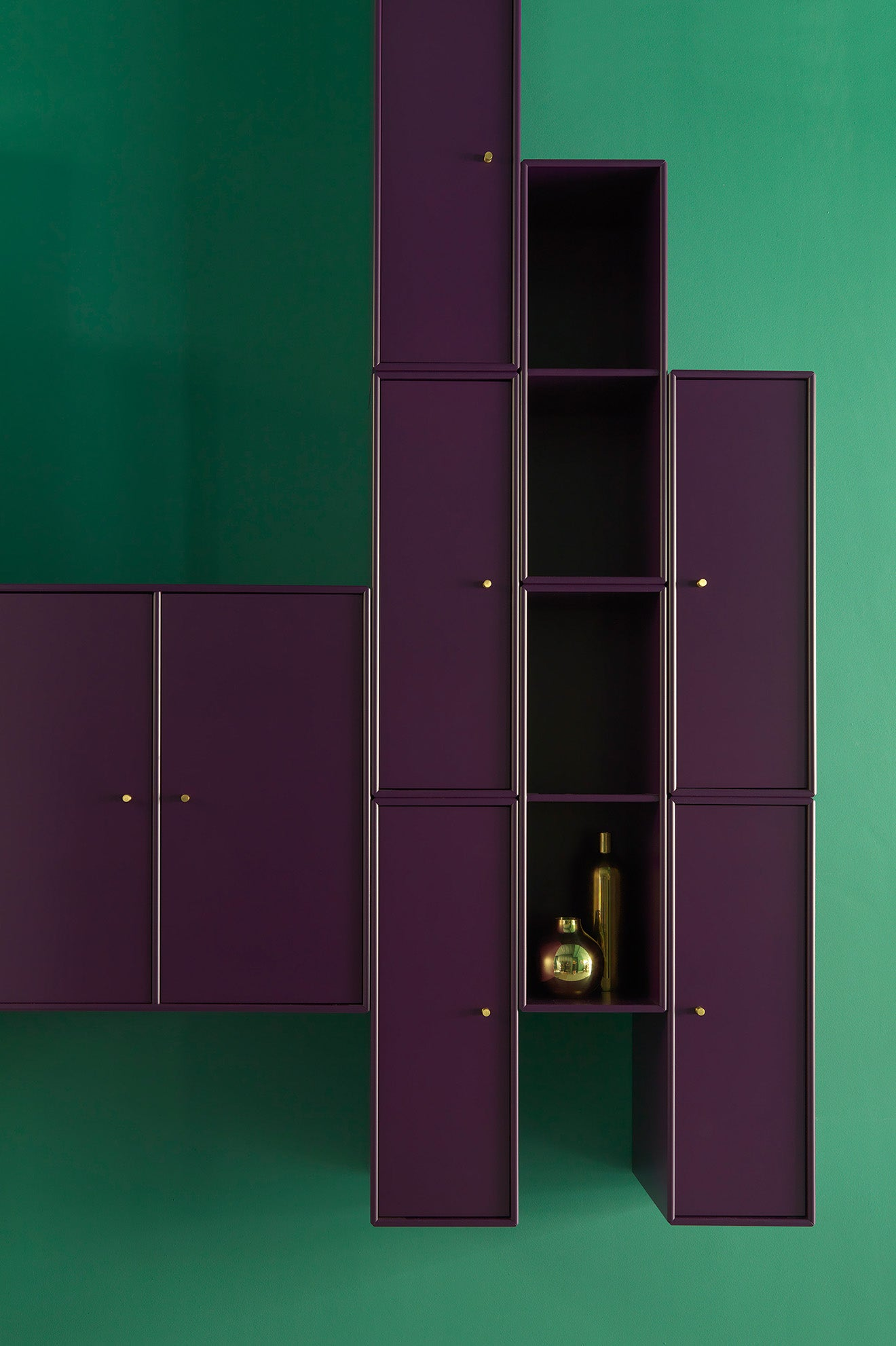 Skandium Eco Townhouse London Purple Shelving and Display Unit