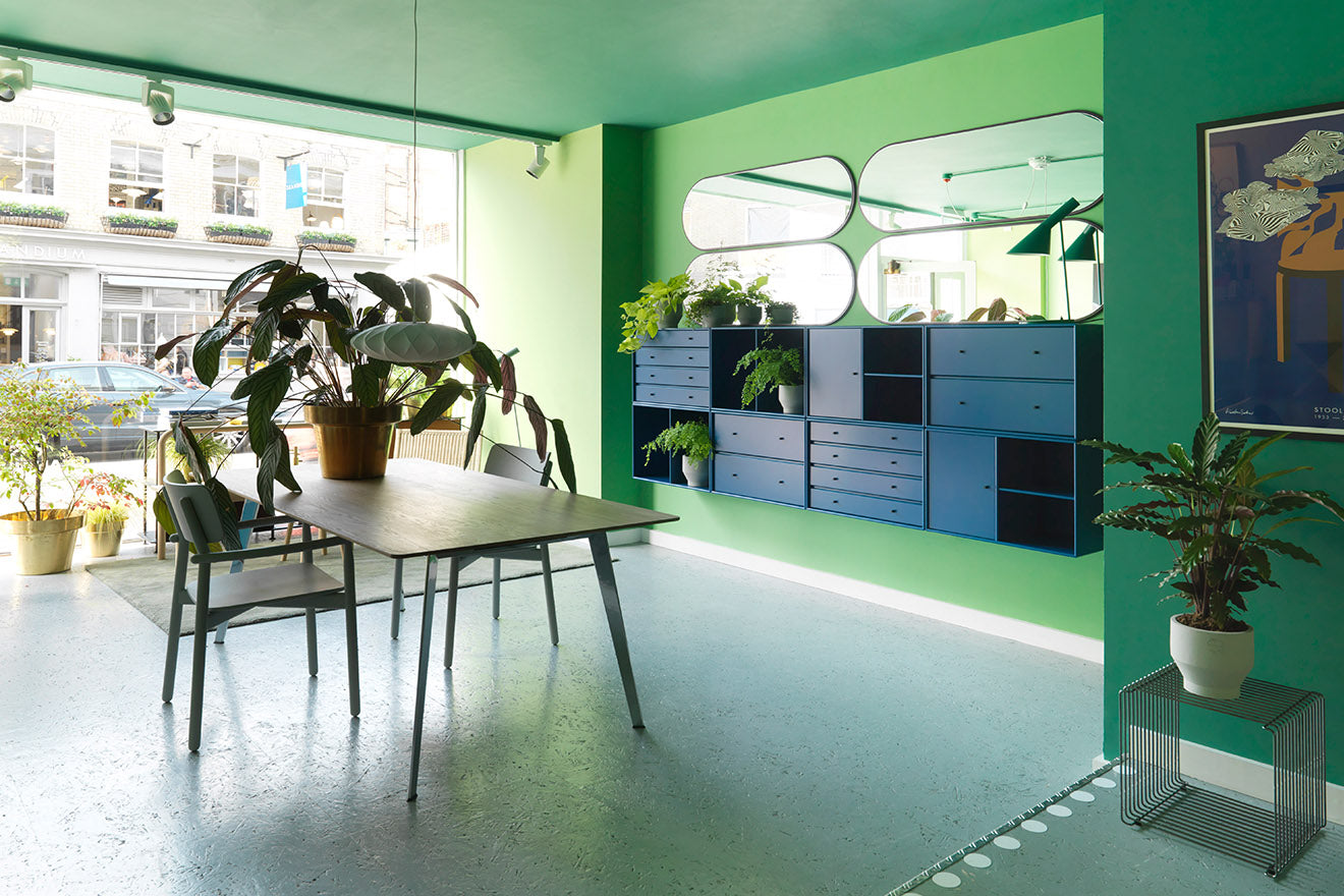 Skandium Eco Townhouse London green dining room