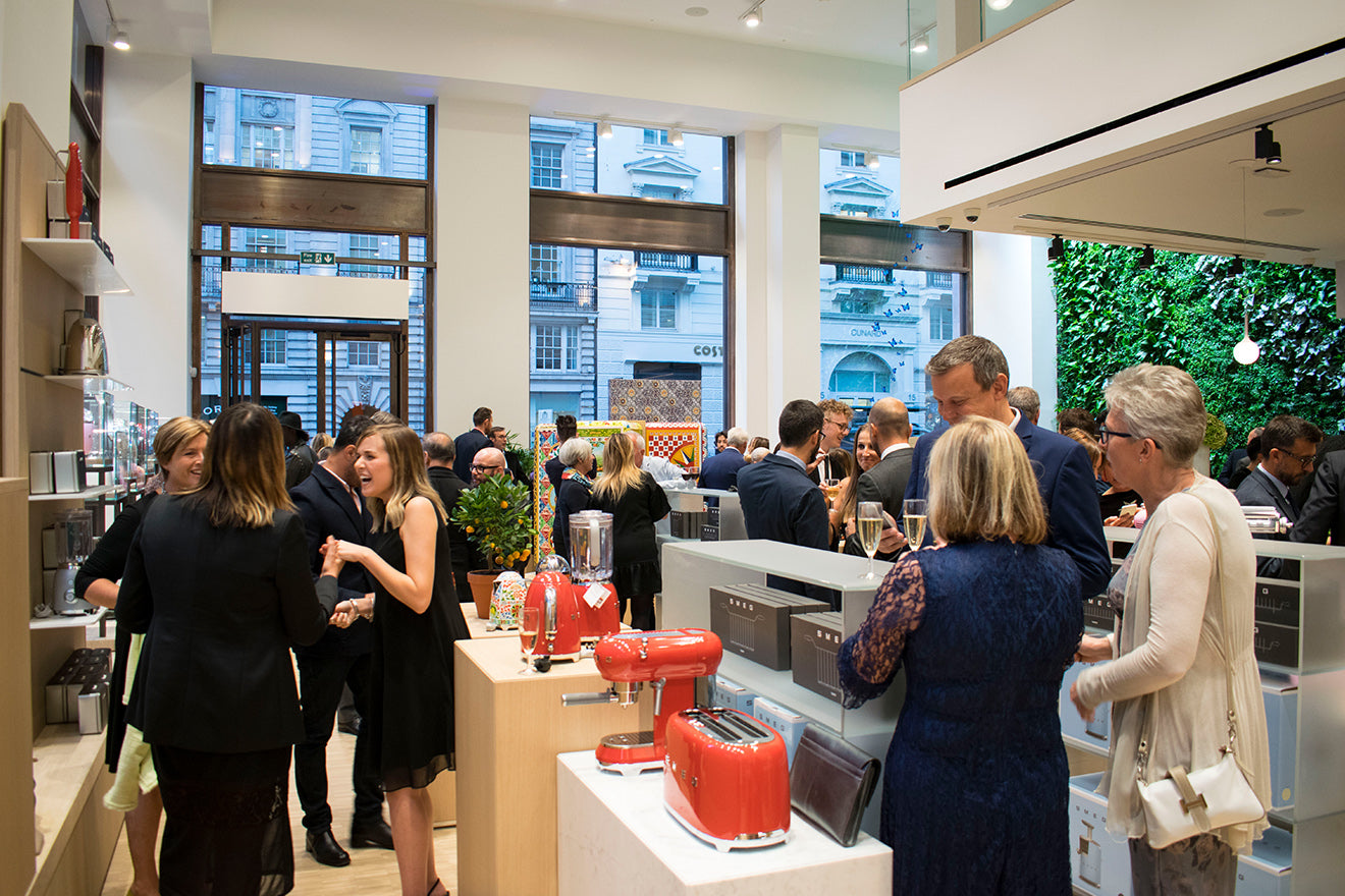 Smeg grand store opening St James, Regent Street London guests arriving