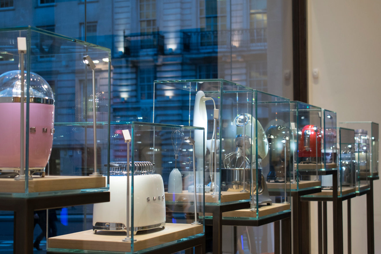 Smeg Appliances on display at the regent Street Flagship Store