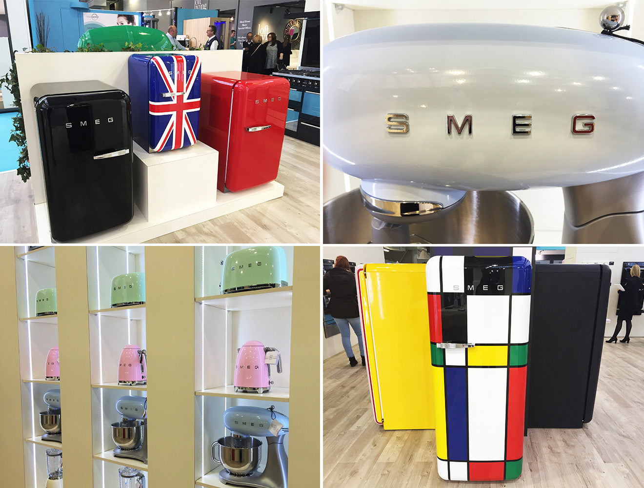 Smeg Uk stand at the Ideal Home Show 2016