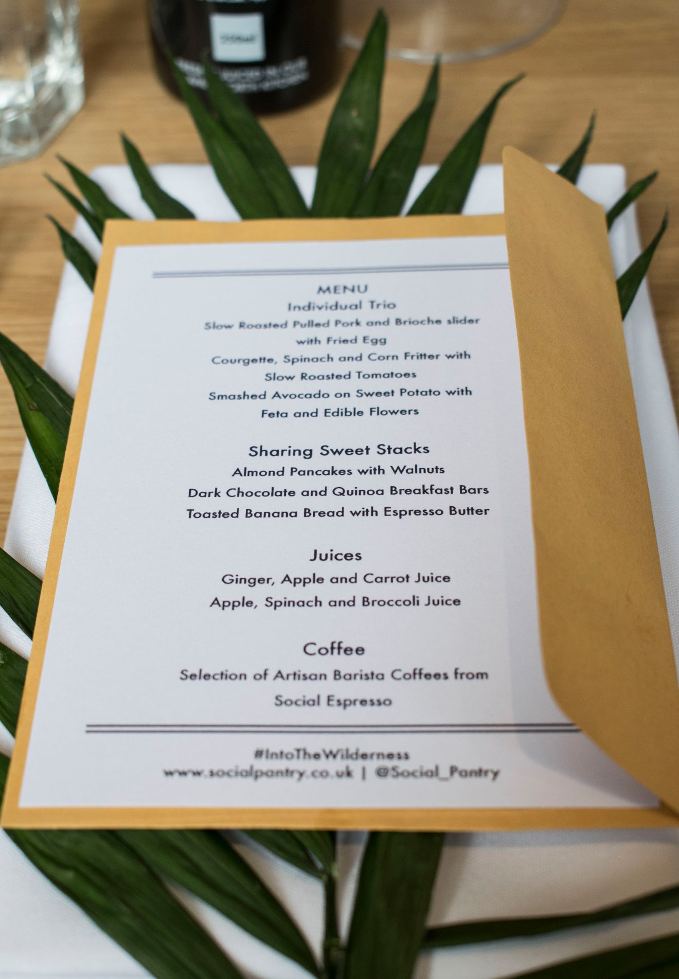 Social Pantry Menu Habitat kings Road