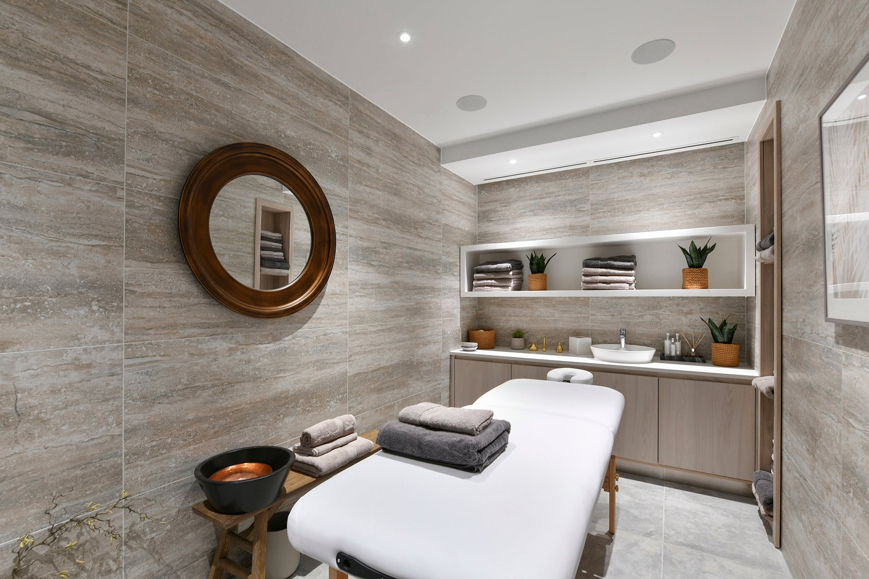 The spa and treatment room, luxury apartment 250 City Road, London Valencia Tower
