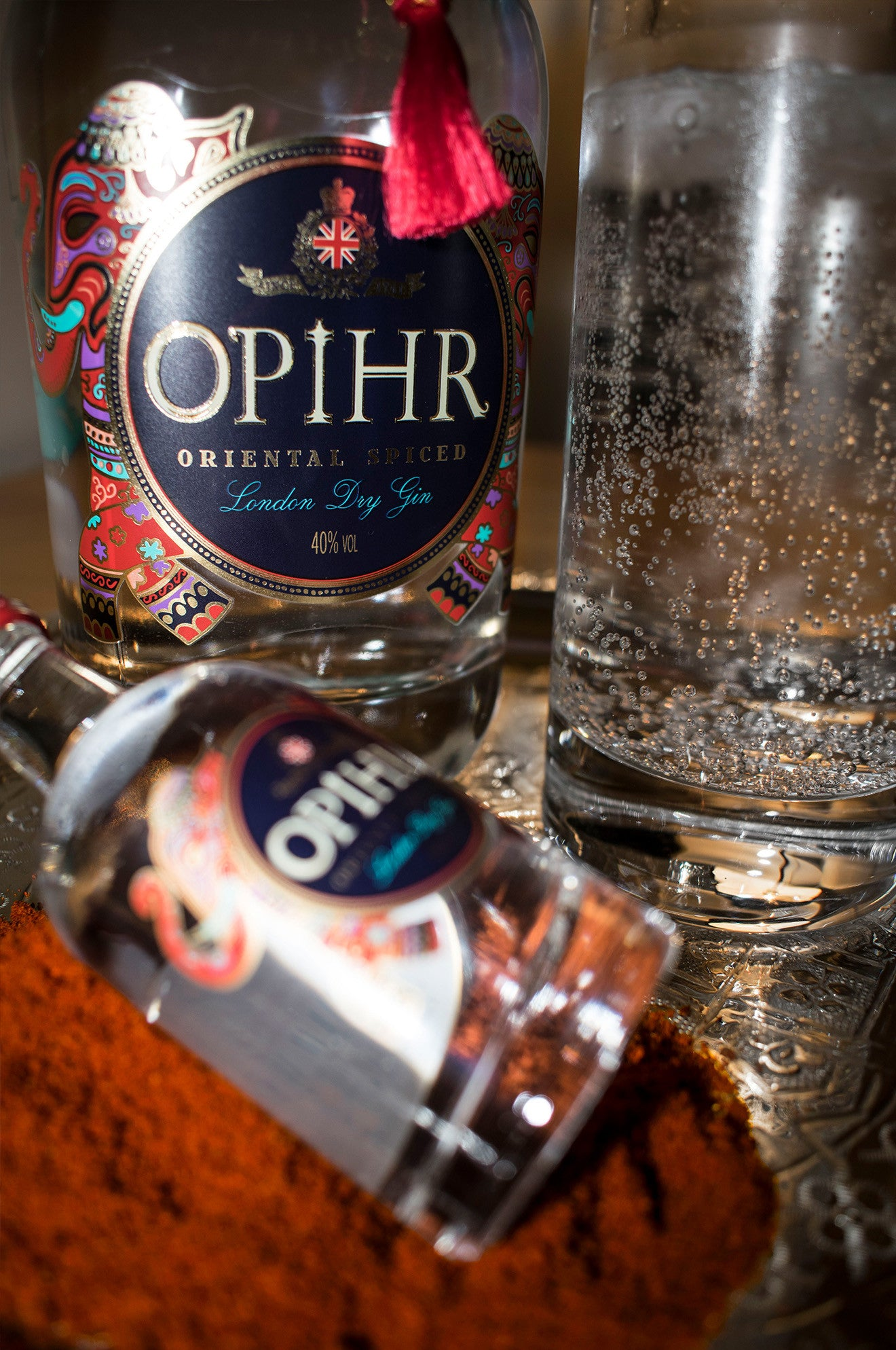 Spiced gin and tonic by Opihr gin