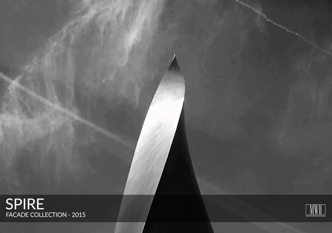 Sculptural modern spire photography