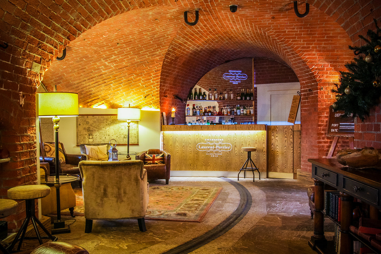Spitbank Fort converted boutique hotel with Laurent Perrier bar and lounge