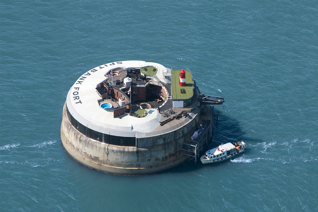 Spitbank Fort luxury converted hotel in the sea off the British Coast