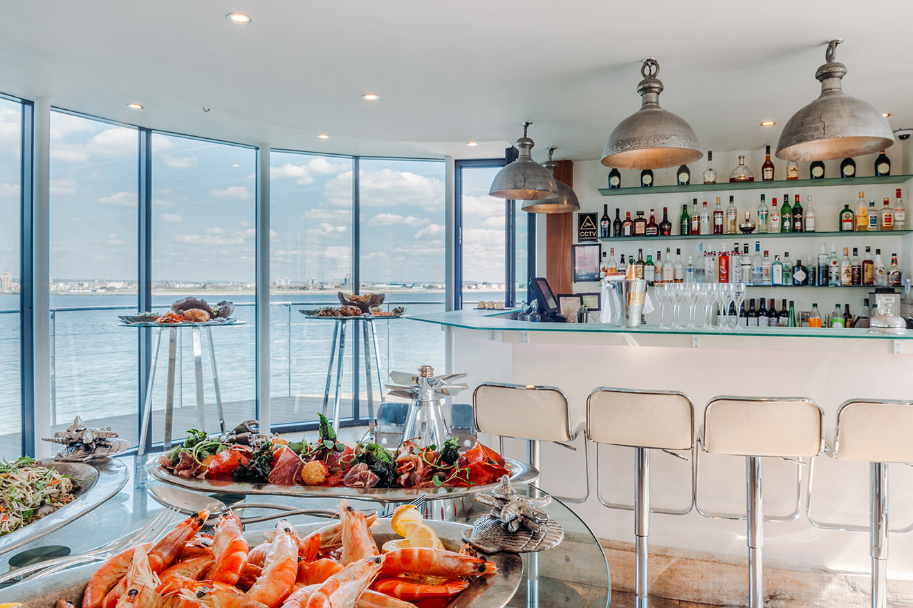 Spitbank Fort converted boutique hotel bar with sea views