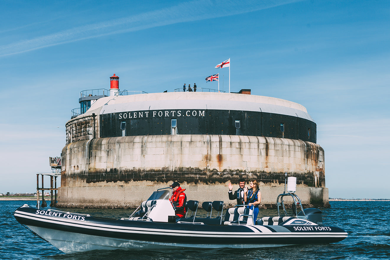Spitbank Fort exterior converted boutique hotel off the British Coast Exterior Shot