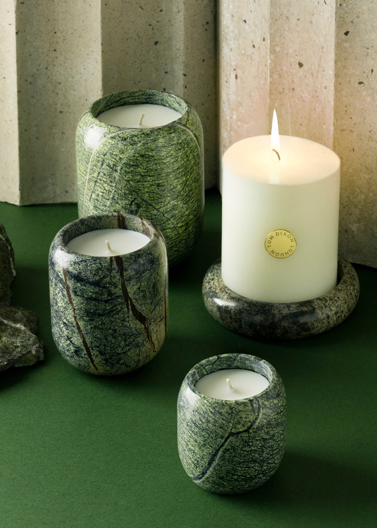 Tom Dixon Stone collection of scents and candles