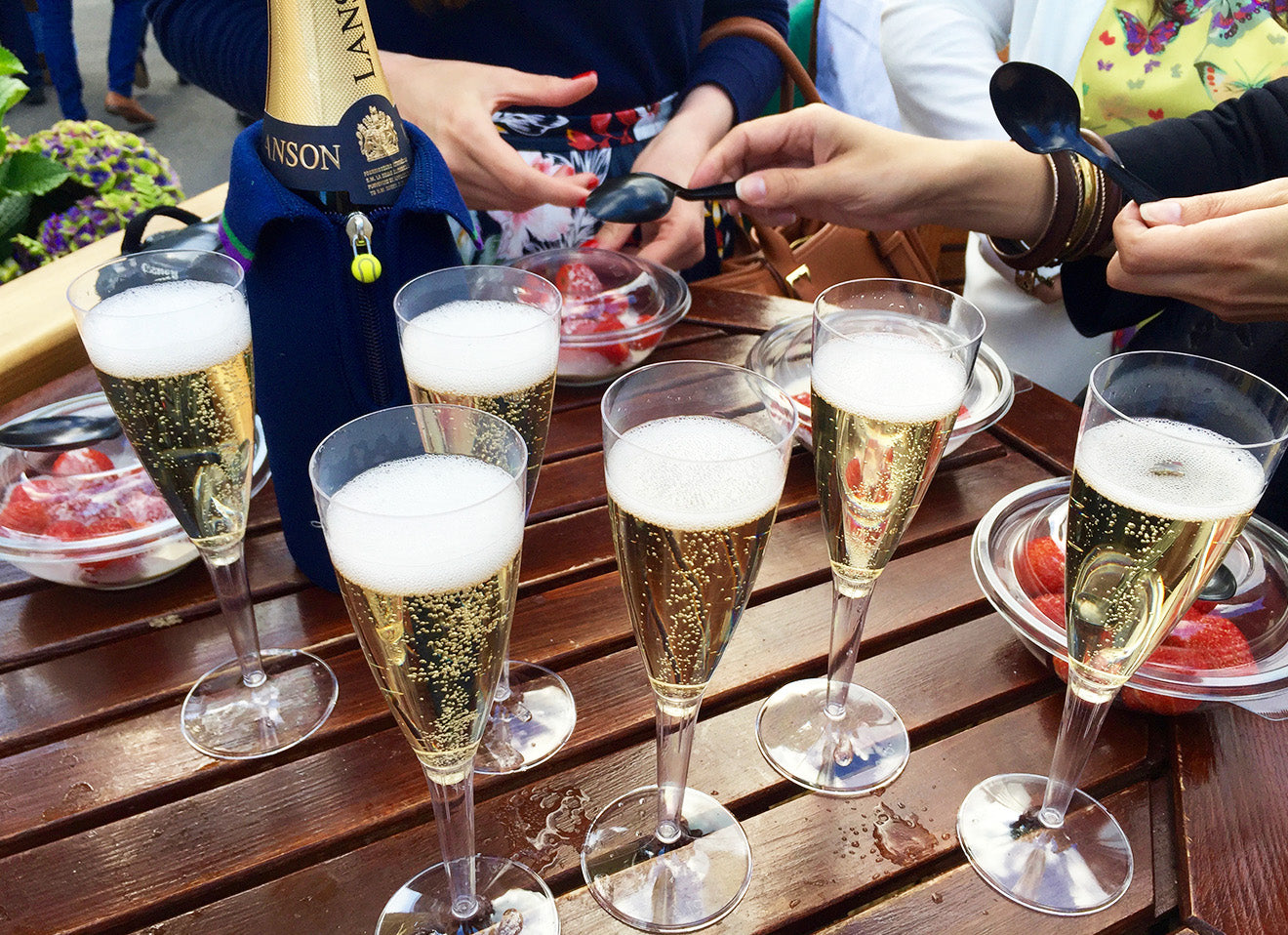 Lanson Champagne official supplier of Wimbledon