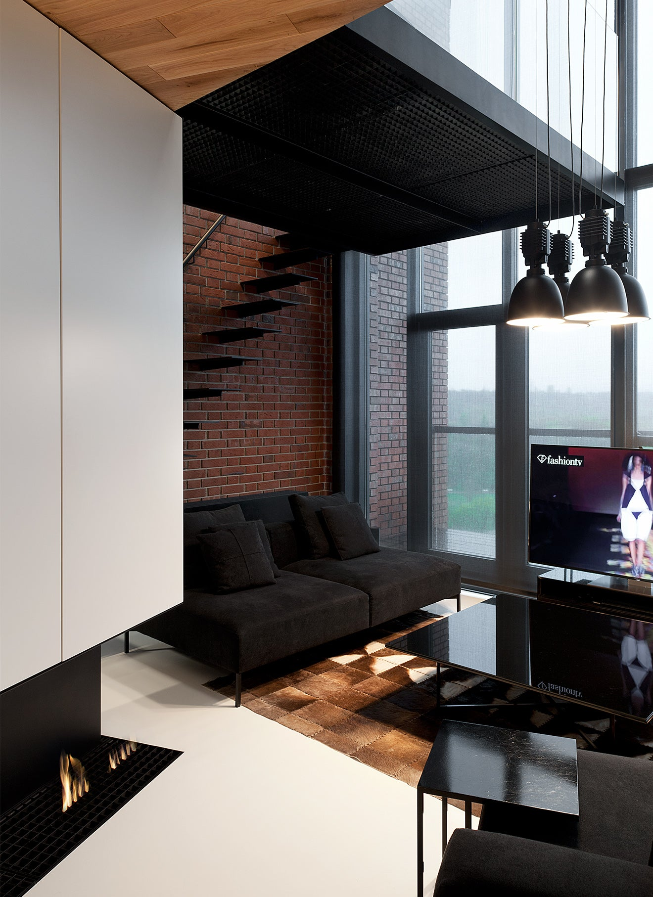 Modern industrial Park Loft interior design from Studio Mode, Bulgaria
