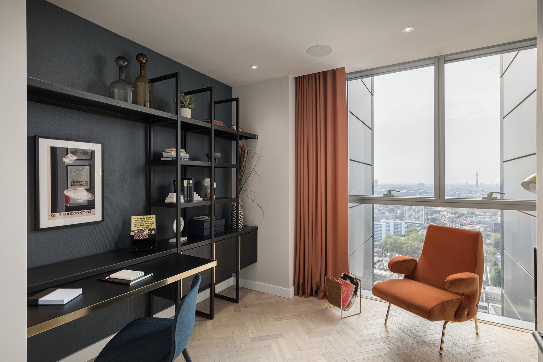 The study office, luxury apartment 250 City Road, London Valencia Tower