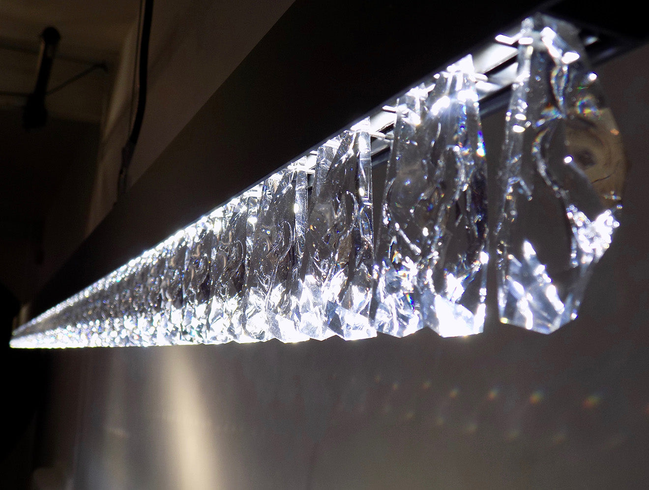 Swarovski Superline crystal detailing Glacarium collection