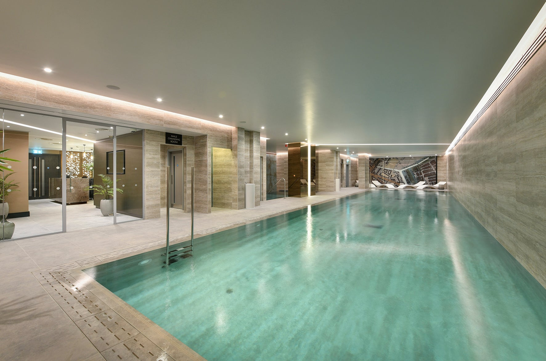 The pool, luxury apartment 250 City Road, London Valencia Tower