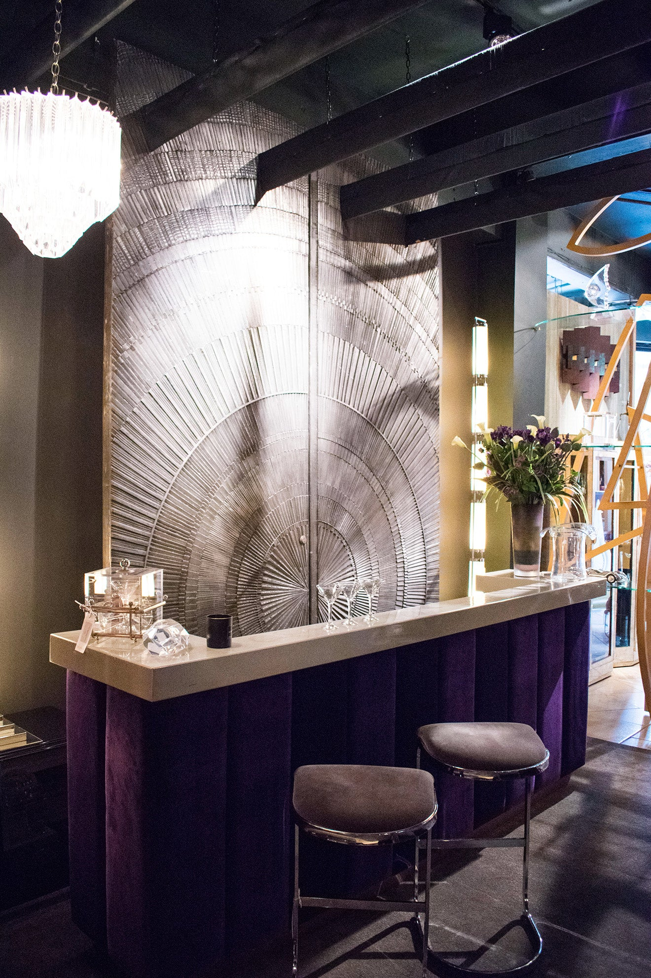 Martyn White Designs Deco inspired bar Designed at Talisman