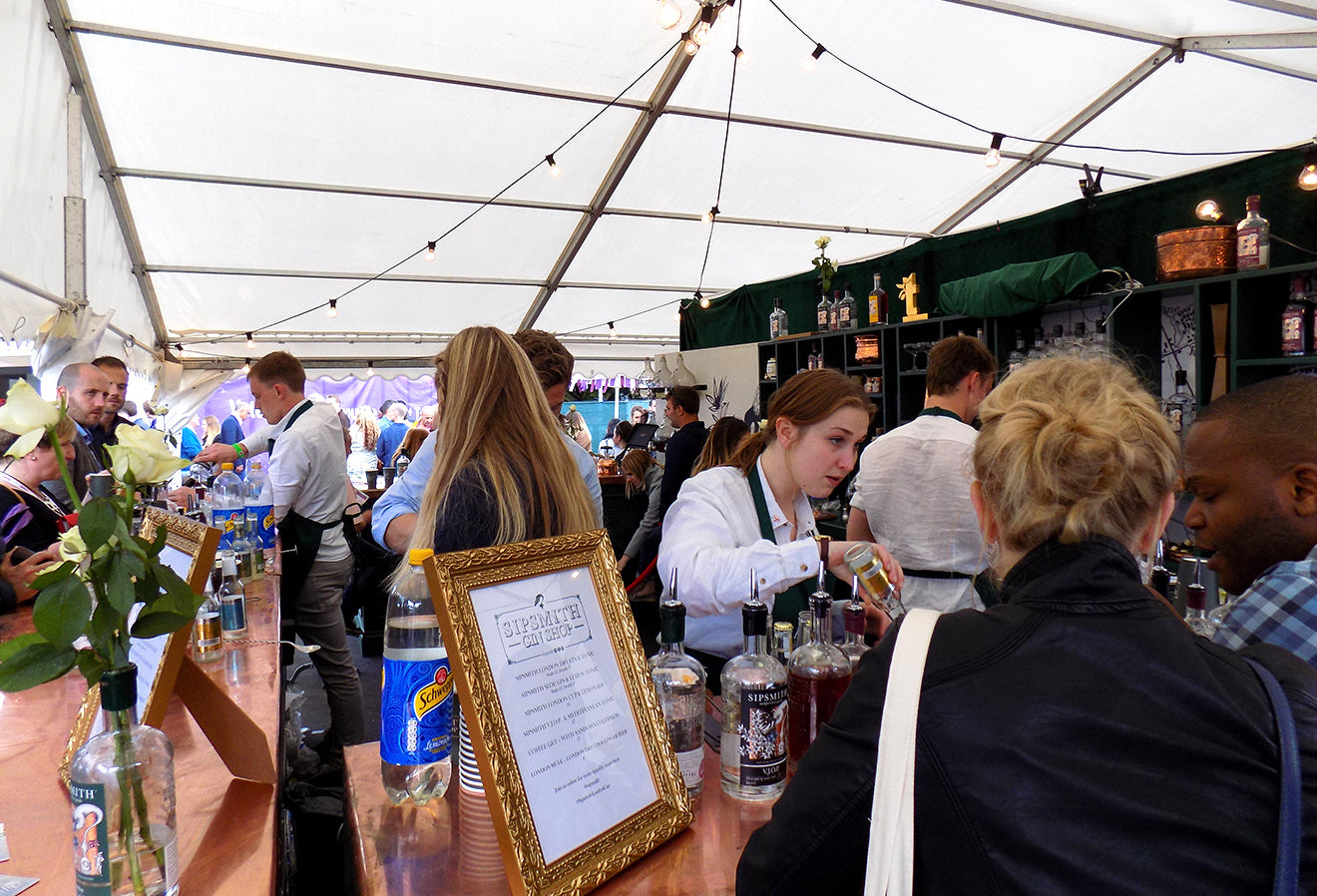Sipsmith Gin stall at Taste of London
