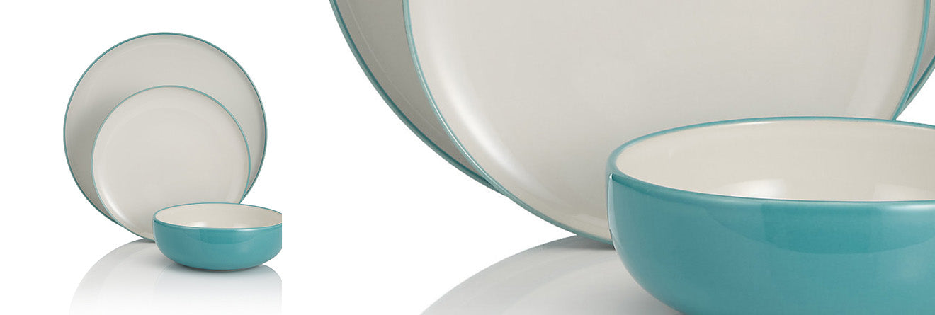 Turquoise Tribeca dinner set from Marks and Spencer crockery plates and bowls