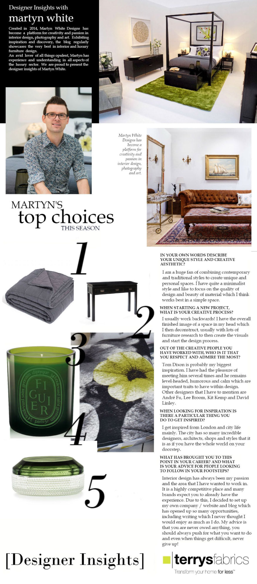 Terrys Fabrics Designer Insight with Martyn White