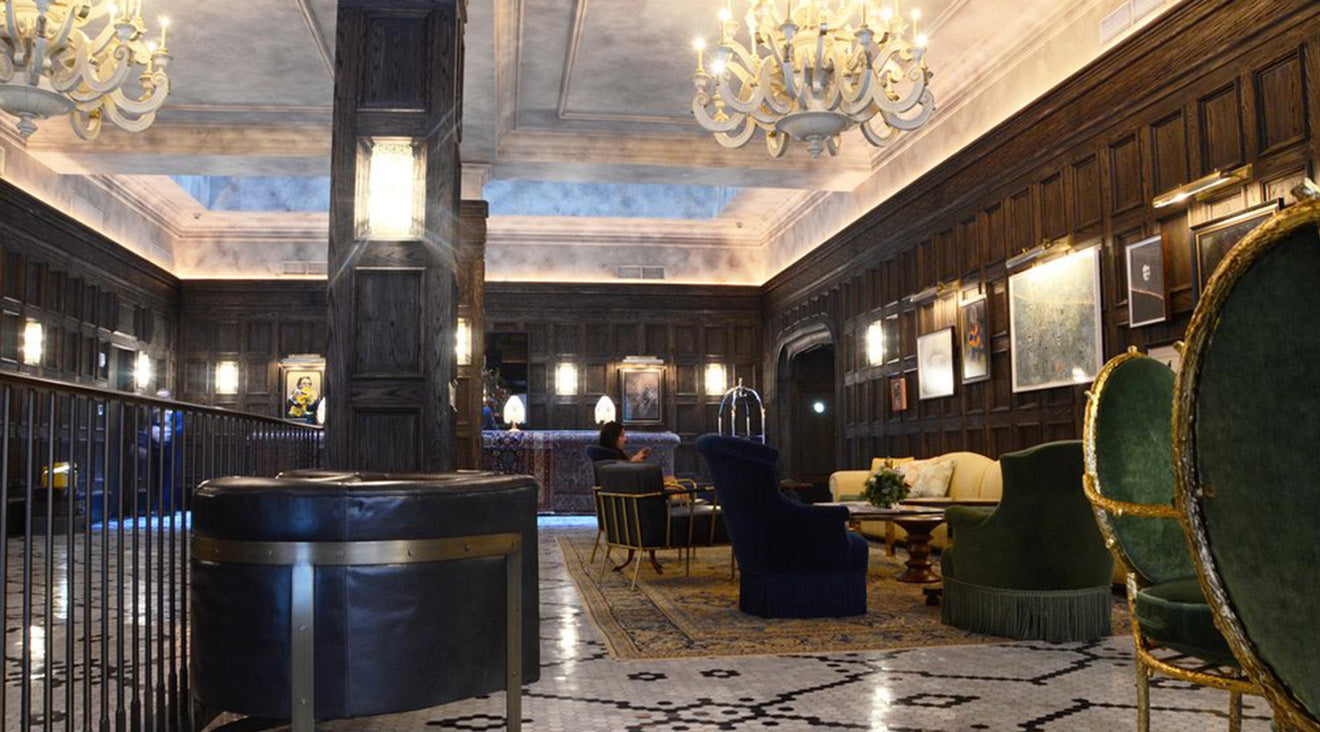 The Beekman lobby and reception area New York