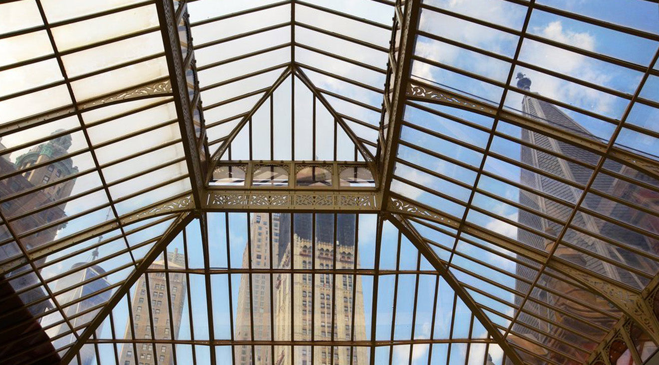 The Beekman class atrium ceiling roof in New York