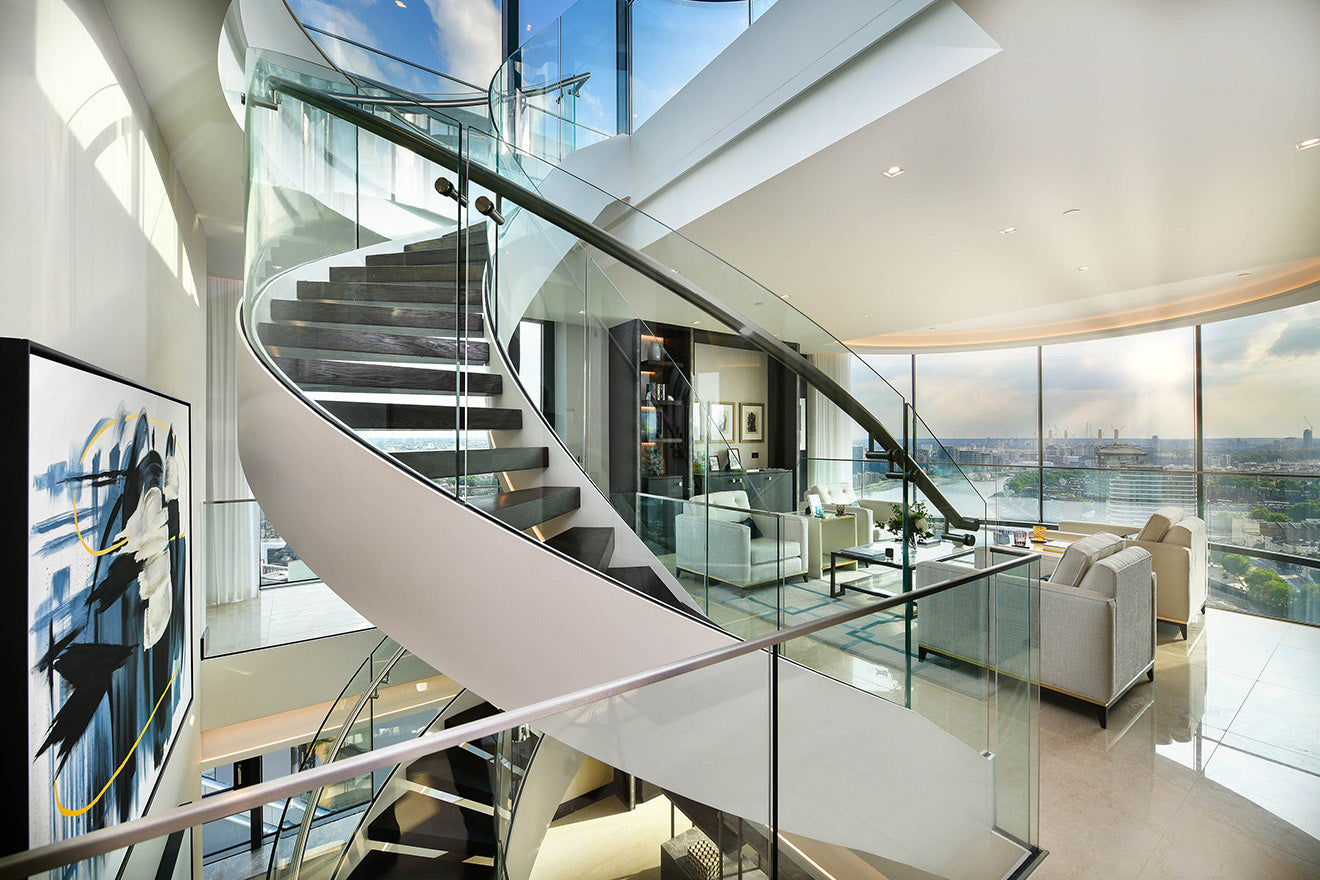 The Corniche Luxury Penthouse Albert Embankment St James Staircase