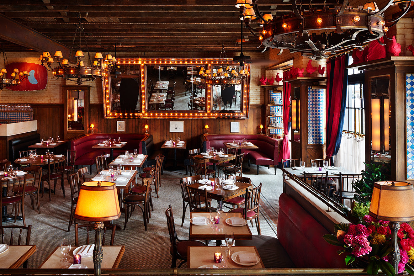 The Ludlow Dirty French restaurant with vintage inspired decoration and interior design