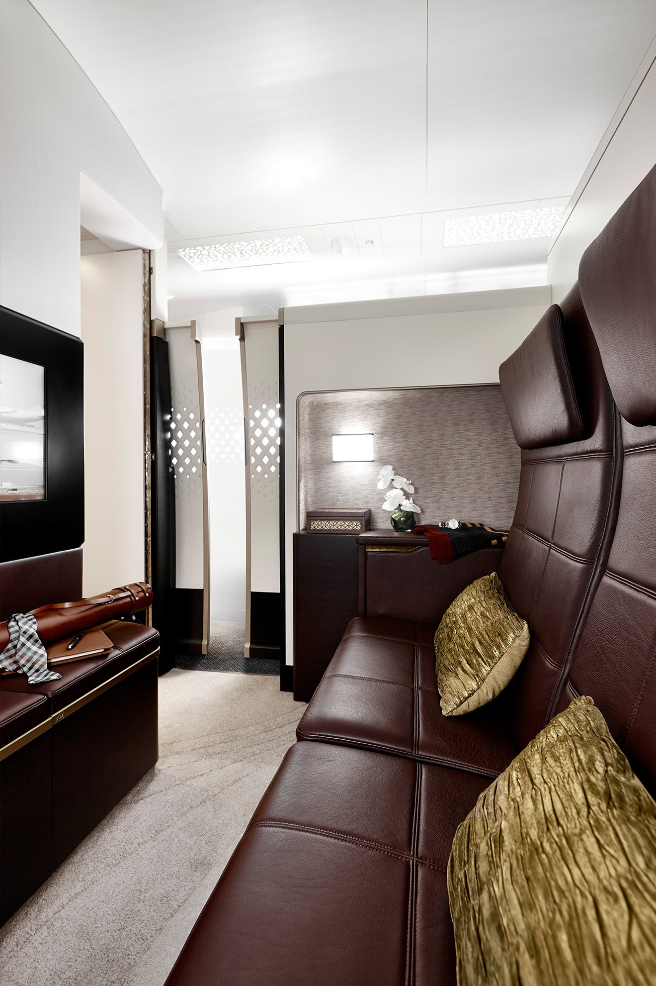 Etihad Airways The Residence three-room suite lounge space