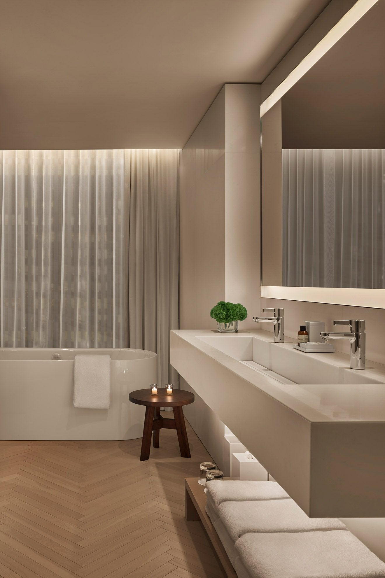 The Times Square Edition Hotel Penthouse Suite Bathroom Interior Design