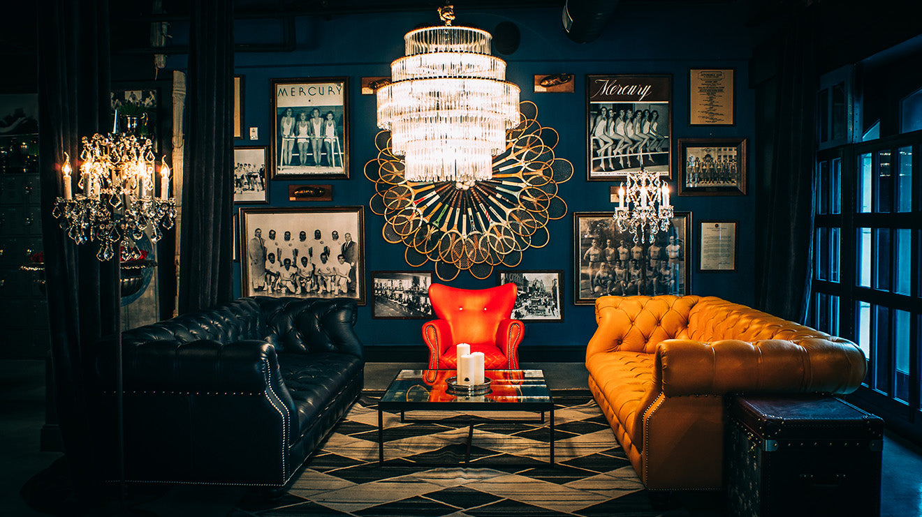 Timothy Oulton Designs the Blue Room Los Angeles Athletic Club