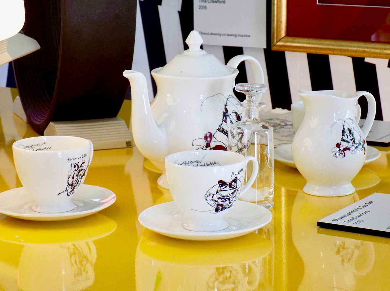 Shakespeare tea set designed by Tina Crawford
