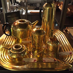 Tom Dixon Form brass art deco teaset