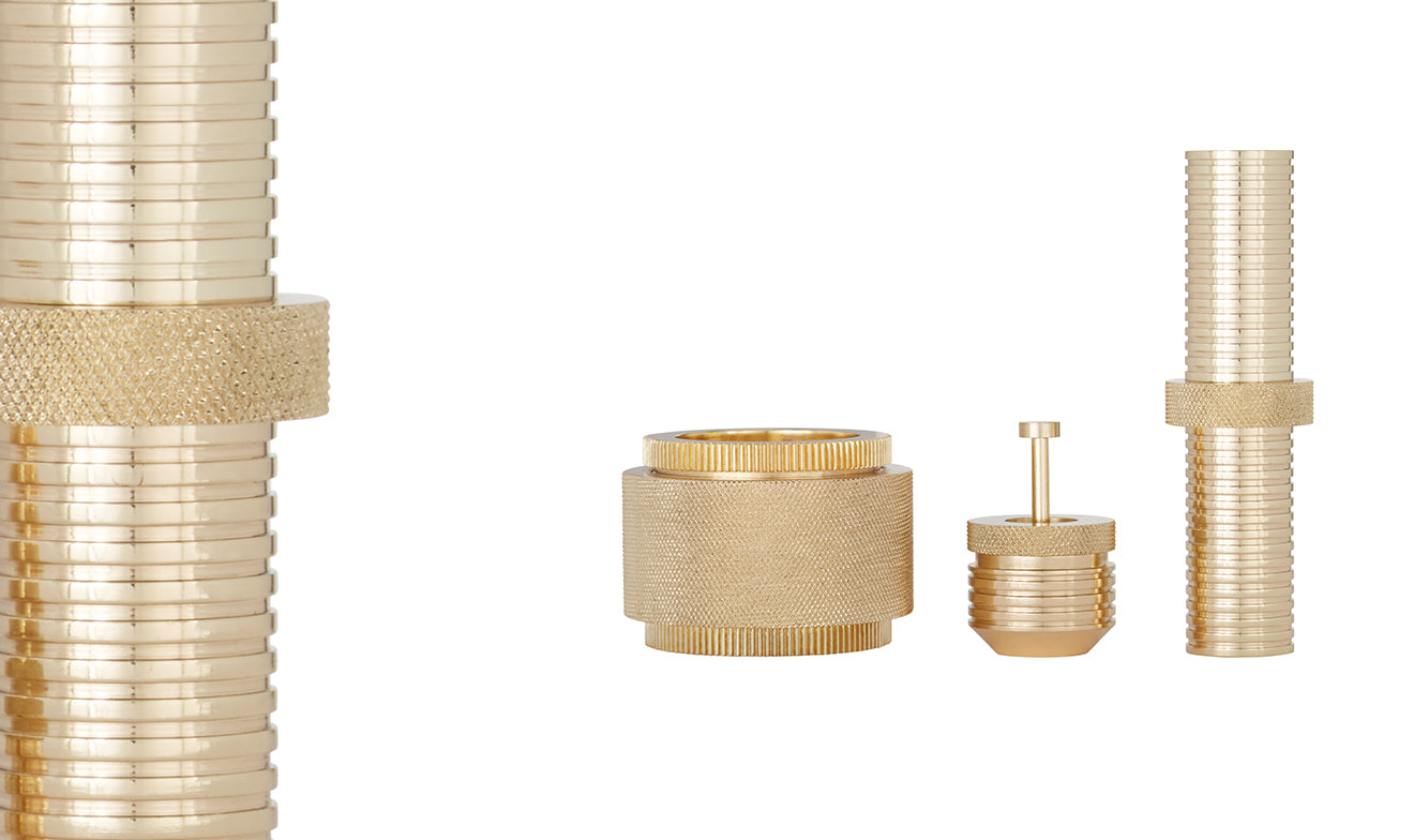 Tom Dixon Brass cog storage containers