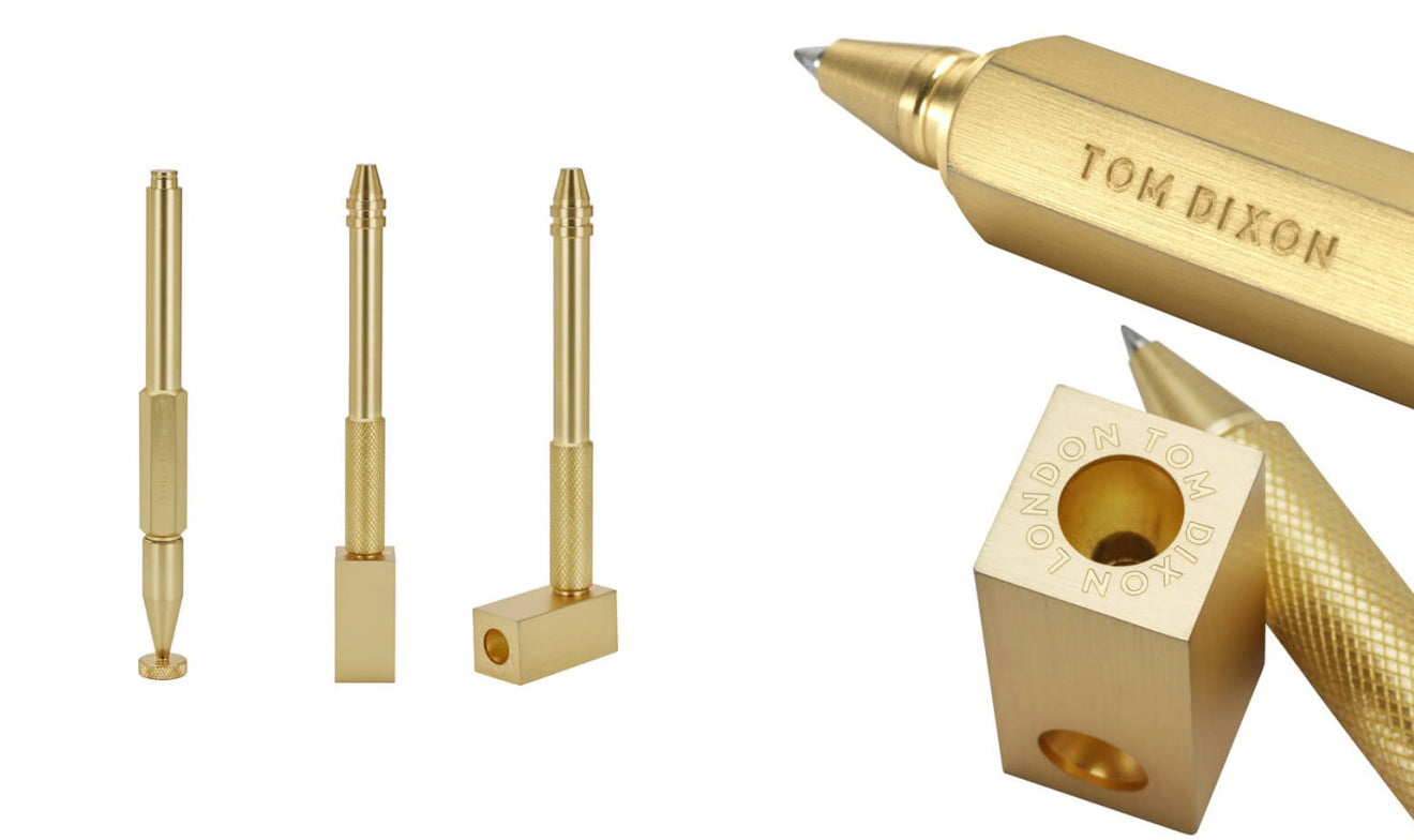 Tom Dixon Brass cog pen collection